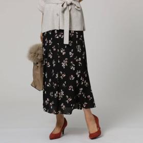 UNTITLED(アンタイトル)/【洗える】マーメイドフラワープリントスカート