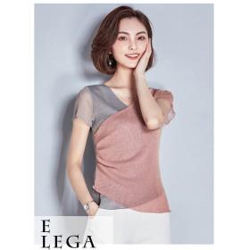 [55555SHOP] 韓国ファッション 着やせ効果抜群 大人の魅力高まる★体型カバー クルーネック 半袖 Tシャツ 無地
