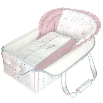 フジキ 日本製 バッグdeクーファン ベビーポルカ ピンク バッグでクーファンfuziki クーハン バック おでかけ キャリー オムツ替え