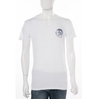 ディーゼル DIESEL Tシャツアンダーウェア Tシャツ 半袖 Vネック UMTEE-MICHAEL MAGLIETTA メンズ 00CG26 0LAMK ホワイト