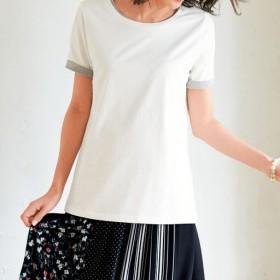 60%OFF【レディース大きいサイズ】 シンプルTシャツ(綿100%・L-10L) - セシール ■カラー:オフホワイト ■サイズ:9L-10L