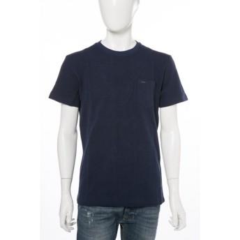 ディーゼル DIESEL Tシャツ 半袖 丸首 T-FUGAZI MAGLIETTA メンズ 00STB7 0DAND ネイビー