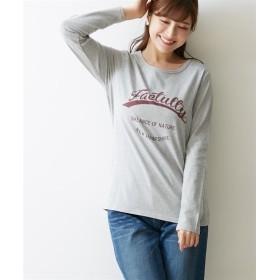 プリント長袖Tシャツ(カレッジロゴ) (Tシャツ・カットソー)(レディース)T-shirts