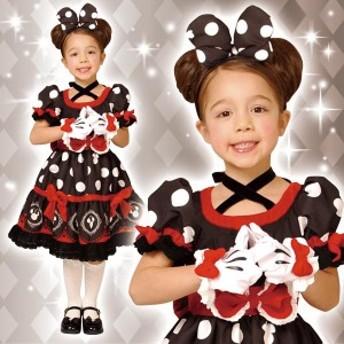 ディズニー コスチューム 子供 女の子用 Sサイズ ミニー ゴシック ワンピース デラックス 黒 仮装 ハロウィン