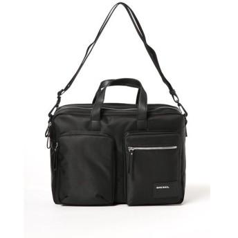 ディーゼル DIESEL ビジネスバッグ ショルダーバッグ BEAT THE BOX CRASH - briefca X03000 P0409 ブラック