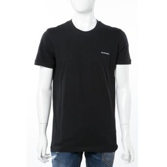 ディーゼル DIESEL Tシャツ アンダーウェア 半袖 丸首 メンズ 00CG46 0CALD ブラック