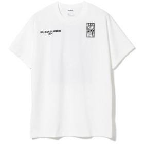 (BEAMS MEN/ビームス メン)Reebok × PLEASURES/VECTOR Tシャツ1/メンズ WHITE 送料無料