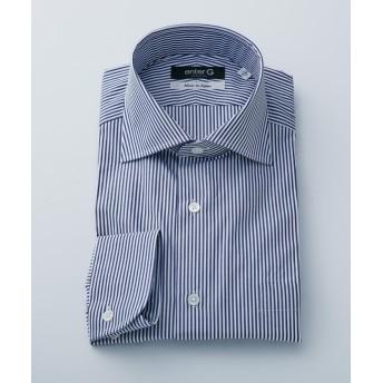 【50%OFF】 エンタージー ネイビーロンドンストライプシャツ メンズ ネイビー系1 37 【enter G】 【セール開催中】