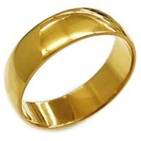 K24 指輪 鍛造(たんぞう) 純金 平甲丸(ひらこうまる)シンプルリング巾6mm8g マリッジ 結婚 記念日 プレゼント オリジナル オーダーリング (16号)