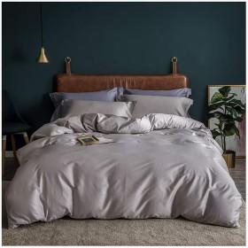 布団カバー3点セット 寝具布団カバーセット寝具セット枕カバー付き布団プロテクター無地サテンロングステープルコットン (Color : C, Size : 200x230cm)
