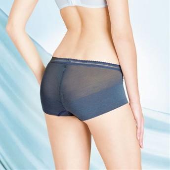 40%OFF【レディース】 通気性が良く肌にやさしい包帯風ショーツ - セシール ■カラー:ブルーグレー ■サイズ:L,LL,3L