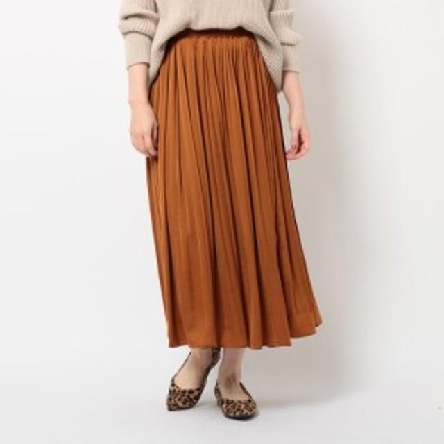 ザ ショップ ティーケー(レディス)(THE SHOP TK Ladies)/サテン消しプリーツスカート