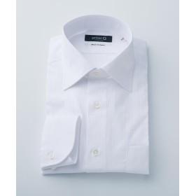 【50%OFF】 エンタージー 白ドビーストライプシャツ メンズ ホワイト系1 38 【enter G】 【セール開催中】