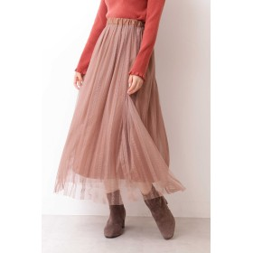 PROPORTION BODY DRESSING(プロポーション ボディ ドレッシング)/《EDIT COLOGNE》ストライプチュールレーススカート