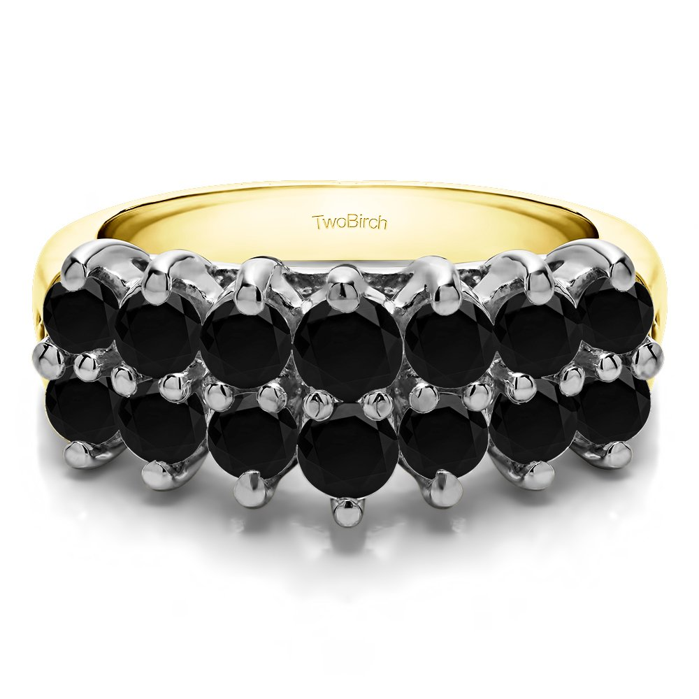 chelseachicNYC Crystal Double Layer Chain Knuckle Ring