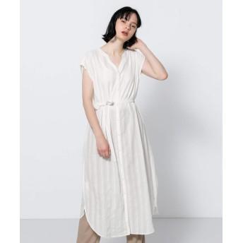 [センスオブプレイス] ワンピース ドレス モールストライプワンピース レディース OFF WHITE FREE