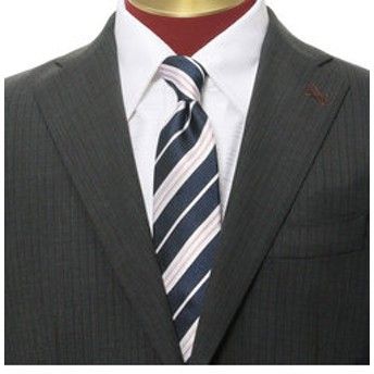 【メンズビギ:スーツ・ネクタイ】レジメンタルストライプネクタイ
