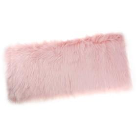 人工ファー シャギー ふわふわ エリアラグ 敷物 カーペット ラグ 床マット クッション 60cmx90cm 全12色 - ライトピンク