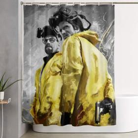 不良になる 浴室の窓の装飾のための生地のホックが付いているポリエステル防水シャワー・カーテン60X72in