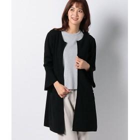 <MISS J> ハノン ジップアップ ロングニットカーディガン クロ【三越・伊勢丹/公式】