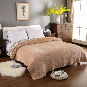 キルティングベッドカバーダブルベッドカバー特大クリスタルベルベットベッドカバーキルト寝具,Yellow-150x200cm