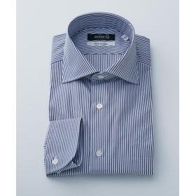 【50%OFF】 エンタージー ネイビーロンドンストライプシャツ メンズ ネイビー系1 41 【enter G】 【セール開催中】