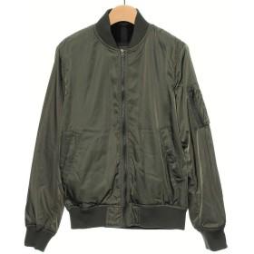 MA-1 裏ボア ミリタリージャケット レディースジャケット ブルゾン アウター コート (M, カーキ)
