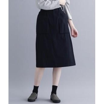 メルロー コットンツイルナロースカート レディース ブラック FREE 【merlot】