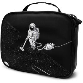 化粧品袋 化粧ポーチ 旅行化粧品バッグ メイクボックス メイクブラシバッグ 収納ケース 宇宙飛行士 清掃 ウォッシュバッグ 化粧品バッグ 旅行用収納バッグ 化粧道具 小物入れ 持ち運び便利 大容量