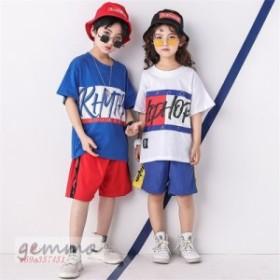 キッズダンス衣装 体操服 ステージ衣装 HIPHOP スポーツウェア 練習着 子供 女の子 Tシャツ ウエア セットアップ 男の子 ヒップホップ 団