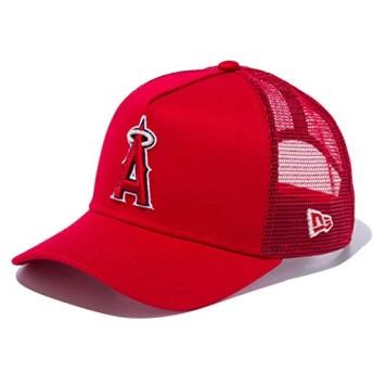 ニューエラ キッズ キャップ 帽子 NEW ERA Youth 9FORTY A-Frame トラッカー ロサンゼルス・エンゼルス メッシュキャップ レッド