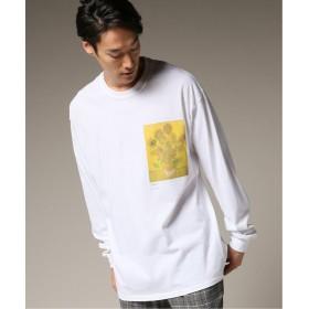 エディフィス SUNFLOWER ロングスリーブ Tシャツ メンズ ホワイト L 【EDIFICE】