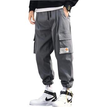 [MLboss]テーパードパンツ メンズ ゆったり ジョガーパンツ ポケット おしゃれ カーゴパンツ 大きいサイズ ストリート ロングパンツ カジュアル スポーツ ワイドパンツ 秋 春(Tグレー)