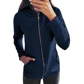 Kukiwaコート レディースジャケット 体型カバー ジッパー長袖 ダウンジャケット 秋冬 ゆったり 防寒 防風