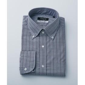 エンタージー モノトーングレンチェックシャツ メンズ ブラック系4 S 【enter G】