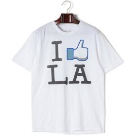 【69%OFF】I Like LA プリント クルーネック 半袖Tシャツ ホワイト s