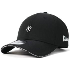 (ニューエラ) NEW ERA キャップ サイズ調整 9FORTY BASIC FABRICS SANDWICH VISOR MLB ニューヨークヤンキース ブラック/ブラック FREE