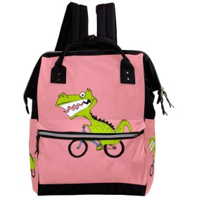 CHENYINAN リュックサック リュック 学生 レディース 動物柄 恐竜 メンズ 大容量 マザーズバッグ がま口 バックパック 通勤通学 デイバッグ かわいい おしゃれ