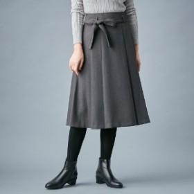 日本製ウエストリボンミモレ丈スカート【手洗い可】