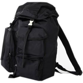 [韓国ブランド] Korea Brand 韓国ファッション 男性 マルチポケット バックパック バッグ (Korea Fashion Men's Multi Pocket Backpack Bag) (ブラック ) [並行輸入品]