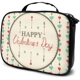 Jingoo バレンタイン・デー 化粧ポーチ メイクバッグ バニティケース 小物入れ 旅行 折り畳み 大容量