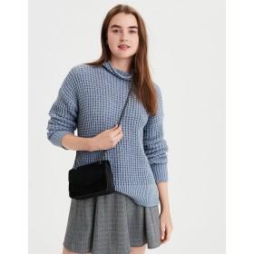【アメリカンイーグル】AEワッフルモックネックセーター