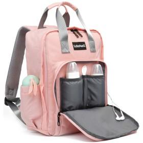 マザーズバッグ トートバッグ ママ ハンドバッグ 多機能 大間口 バッグを交換する オムツ バッグ 調整可能 大間口ママ保育園おむつリュック充電トートバッグ