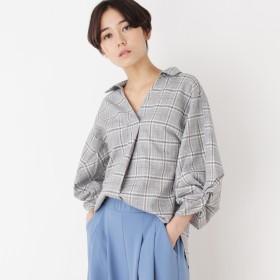 SHOO・LA・RUE/DRESKIP(シューラルー)/ボリューム袖スキッパーシャツ