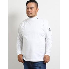 タカキュー シナコバ/SINA COVA 天竺無地ハイネック長袖Tシャツ メンズ ホワイト GB-4L 【TAKA-Q】
