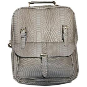 [韓国ブランド] Korea Brand 韓国ファッション 男性 New Rusiバックパック バッグ (Korea Fashion Men's New Rusi Backpack Bag) (グレー) [並行輸入品]