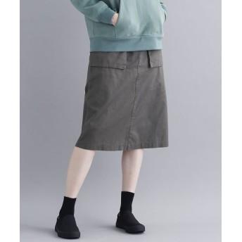 メルロー コットンツイルナロースカート レディース カーキ FREE 【merlot】