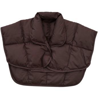 エムール 洗える 羽毛肩当て 着る毛布 Mサイズ ダークブラウン 収納ポケット付き 5色から選べる