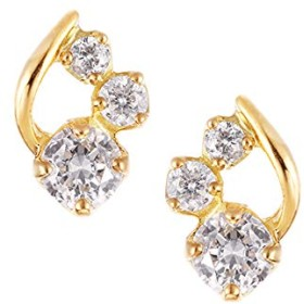 [ジュエリーツツミ]JEWELRY TSUTSUMI K18イエローゴールドダイヤモンドピアス RPE111-001