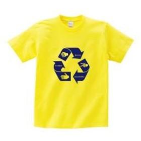 じゃんけんリサイクルTシャツ イエロー 120
